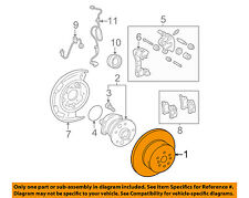 TOYOTA OEM Rear Brake-Rotor 4243133100