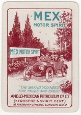 Playing Cards 1 Swap Card - Old Wide MEX MOTOR SPIRIT Car ANGLO MEXICAN Petrol