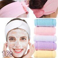 Adjustable Towelling Hair Wrap Turban Head Band Makeup Wash Face Spa Headband