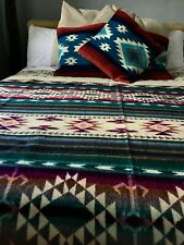 Huge King Size South American REVERSIBLE  Handmade Wool Blanket Sofa Bed Throw