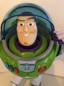 "Pixar-Thinkway Toys, Toy Story Buzz Lightyear 12"" Action Figure Light Up Talking"