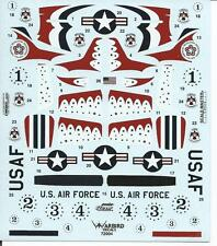Warbird What If USAF Thunderbirds Flew P-51D Mustangs in 1948 Decals 1/72 004