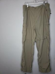Active Actimum Men's Convertible Pants Beige W 38 X 30 L Cargo Pockets Outdoors