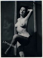 Nude Dancer Fishnet tights/NUE DANSEUSE * vintage 60s photo B seufert