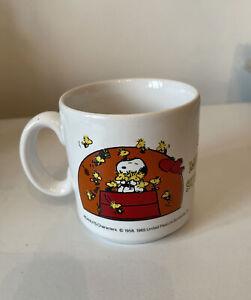 Snoopy Woodstock Mug Vintage Peanuts Cup Ceramic Good Morning Sunshine