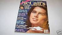 NOV 1981 MCCALLS magazine BROOKE SHIELDS