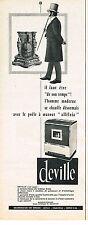 PUBLICITE ADVERTISING  1963    DEVILLE   poele à mazout
