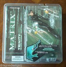 THE MATRIX RELOADED TRINITY FALLS ACTION FIGURE. SERIES 2. NOC MACFARLANE