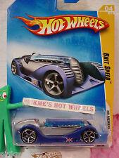 2009 #4 PREM Hot Wheels BRIT SPEED ∞variant silver/blue∞Premier Model~Union Jack