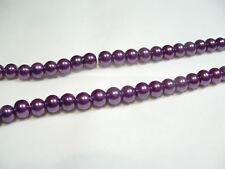 85+ pcs x Glass Pearl 10mm Round Beads: #65E Purple