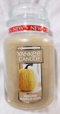 Yankee Candle SUGARED PUMPKIN SWIRL Large Jar 22 Oz New Housewarmer Fall Autumn