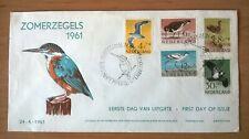 FDC E47 Zomerzegels 1961 IJsvogel (Variant) stempel Philatelistenbeurs