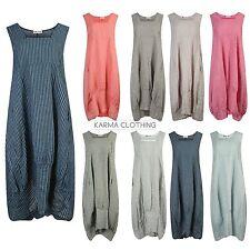 Full Length Crew Neck Casual Striped Dresses for Women