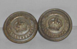 Warwickshire Constabulary Buttons X 2
