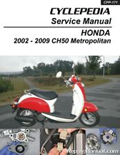 Chf50 Metropolitan Honda Scooter Service Manual Printed by Cyclepedia