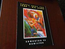 1986 GREY CUP program HAMILTON vs Edmonton BC Place nrmt condition