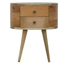 Rounded Bedside Table  By Artisan Furniture