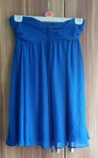 Women's ASOS blue chiffon strapless occasion dress (UK size 8)