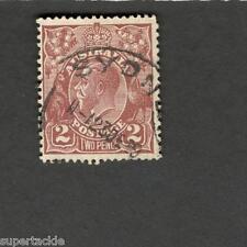 1928 Australia SCOTT#70 KING GEORGE V  2 pence Θ used stamp
