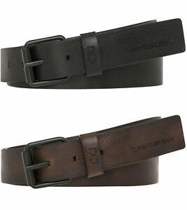 Calvin Klein Jeans Mens CKJ Leather Belt