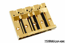 "NEW Omega Badass Bass II Style Bridge for Fender Precision & Jazz 2 1/4"" Gold"