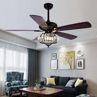"52"" Ceiling Fan Light Remote Control Industry Chandelier Lamp E26 Bulb Base"