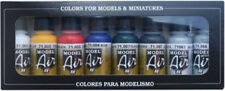 VALLEJO 71174 Basic Model Air Paint Set 8 Colors 17ML Bottles FREE SHIPPING