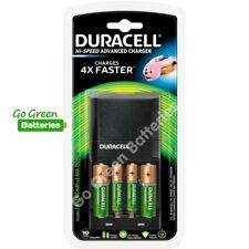 Duracell 45 Min CEF27 Charger +2 AA 1300 +2 AAA 750 mAh Rechargeable Batteries