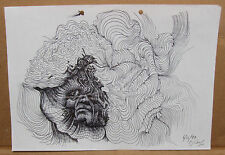 Original Artist Signed Pen on Paper by Spencer John Derry, Excellent Condition!