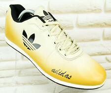 ADIDAS GOLD Mens Real Leather Trainers Shoes Casual Sneakers Size 8.5 UK 43 EU