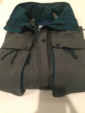 Ll Bean Northcol Outerwear Men's Packable Rain Jacket Coretex Zip Pockets Vtg