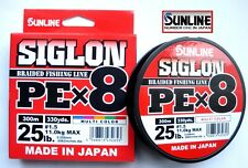 Sunline SIGLON Braided Ligne X8 300m P.e 1 16lb Multi Color (2639)