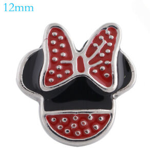 Mini Snap Jewelry Mouse Cartoon fits 12mm Petite Ginger Charms Accessories Kid