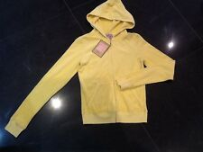 NWT Juicy Couture New & Gen. Ladies Size Small Yellow Towelling Hoody & Logo