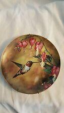 Hummingbird Plate Hamilton Collection Sunlit Waltz Romantic Flights Fancy 0588A
