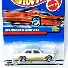 1998 Hot Wheels Mercedes Benz 380 SEL White Gold 767 Saw Blades New Sealed