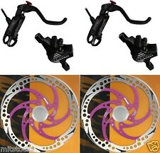 Bengal Helix 7B Bike Bicycle Hydraulic Disc Brakes 160 Complete kit Black Purple