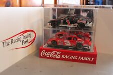 1998 Dale Earnhardt & Dale Jr. Coke 1/24 Action Diecast Set With Display Case