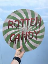 Halloween Rotten Candy MDF Sign Prop Sweet Table Wonka Decoration HW CD