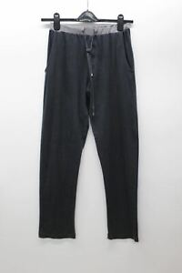 ZIMMERLI Men's Charcoal Grey Cotton Blend Drawstring Long Johns W28 L31