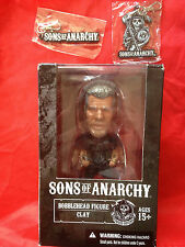 SONS OF ANARCHY CLAY Bobblehead + 2 Keychains LOT MEZCO NEW