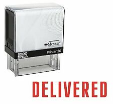 Delivered Office Self Inking Rubber Stamp - Red Ink (E-5100)