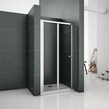 90x185cm Duschkabine Duschabtrennung Falttür Nischentür Echtglas Duschwand