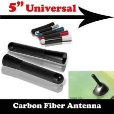 "5"" Stubby Carbon Fiber Aluminum Short Antenna Black Screws For BENZ SMART"
