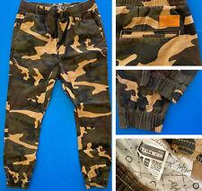 ITALY MORN Sunrise Drop Crotch Camo Jogger Style Pants Men's 32 M. Inseam 29.