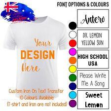 Personalised Custom Design  Text Name Number Iron On Transfer Vinyl