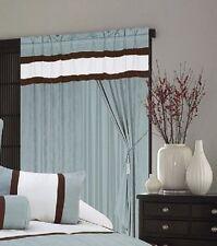 A Pair of Micro Suede Aqua Blue Window Curtains