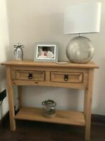 Country Console Table Solid Wood Hallway Storage Unit Rustic Small Sideboard NEW
