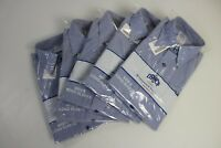 5 Pack Mens Military GENUINE US Navy Long Sleeve USN Blue Utility Shirt Medium