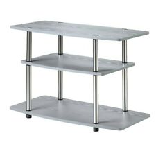 Convenience Concepts Designs2Go 3 Tier TV Stand, Gray - 131020GY